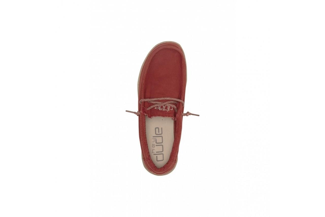 Półbuty heydude wally washed brick, czerwony, materiał - sportowe - półbuty - buty męskie - mężczyzna 11