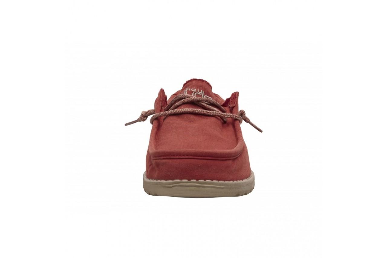 Półbuty heydude wally washed brick, czerwony, materiał - sportowe - półbuty - buty męskie - mężczyzna 9