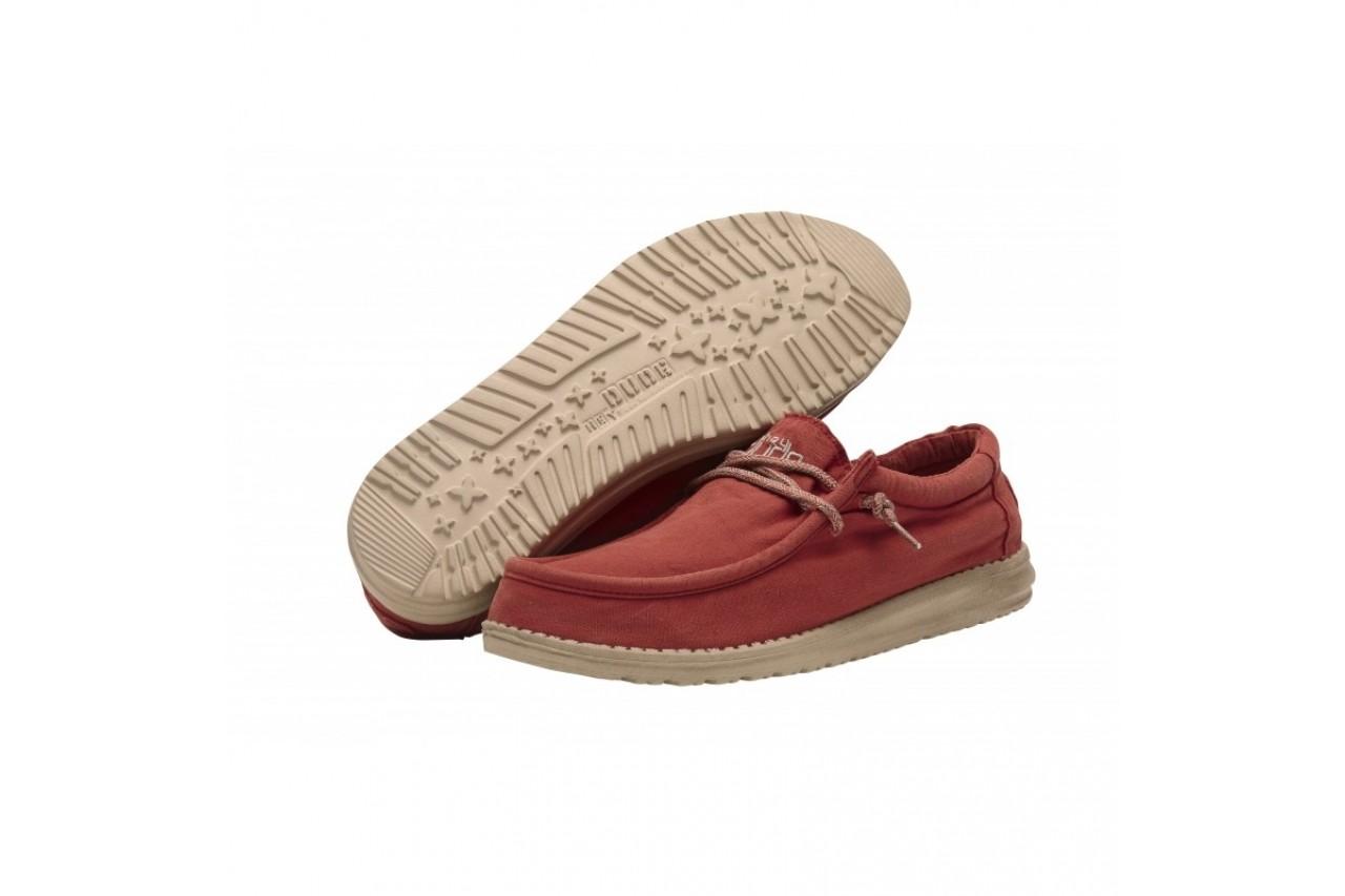 Półbuty heydude wally washed brick, czerwony, materiał - sportowe - półbuty - buty męskie - mężczyzna 8