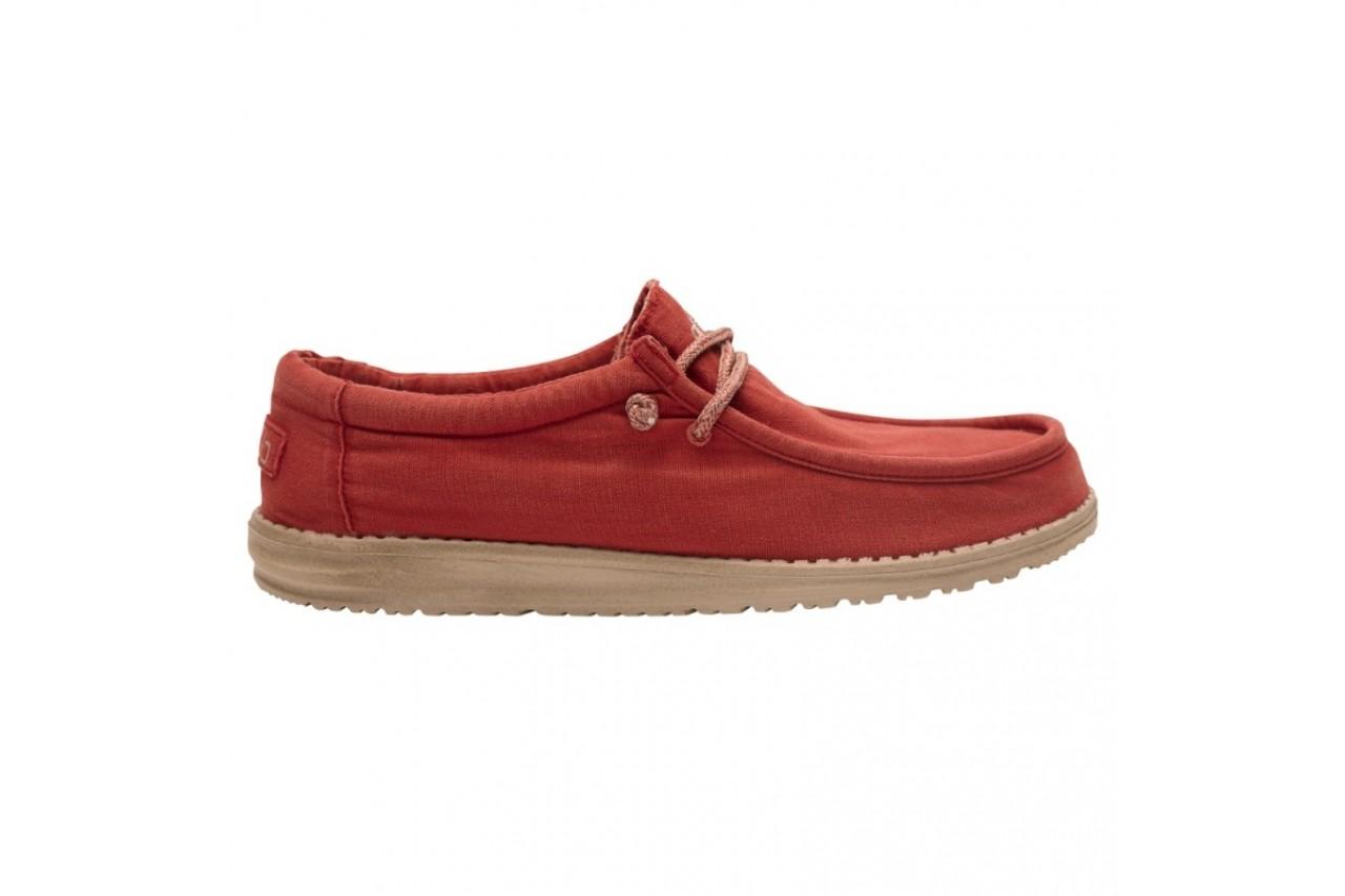 Półbuty heydude wally washed brick, czerwony, materiał - sportowe - półbuty - buty męskie - mężczyzna 6