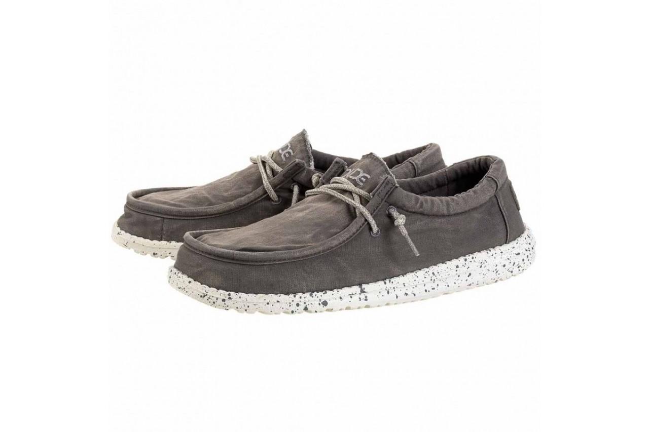 Półbuty heydude wally washed dark grey, szary, materiał - heydude - nasze marki 7