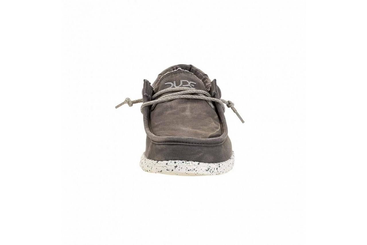 Półbuty heydude wally washed dark grey, szary, materiał - heydude - nasze marki 9