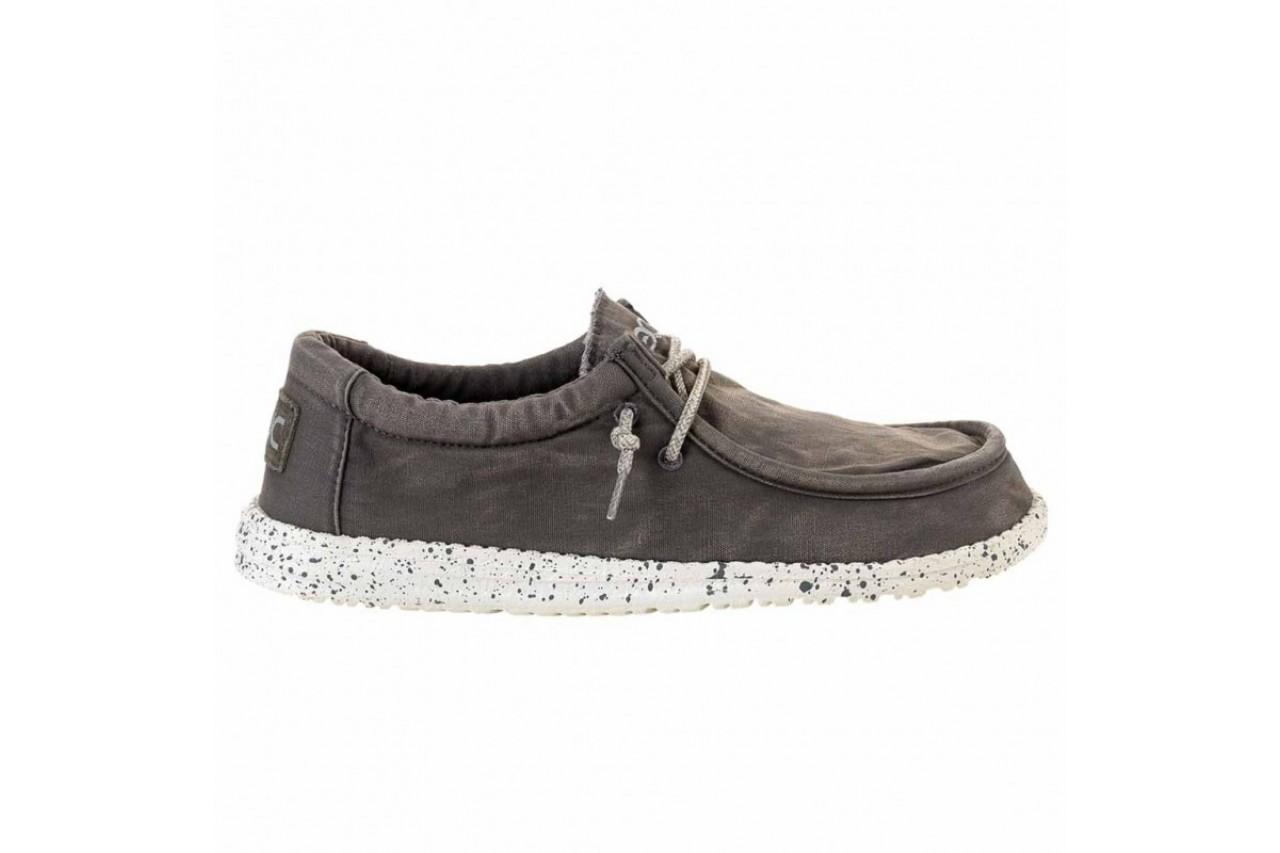 Półbuty heydude wally washed dark grey, szary, materiał - heydude - nasze marki 6