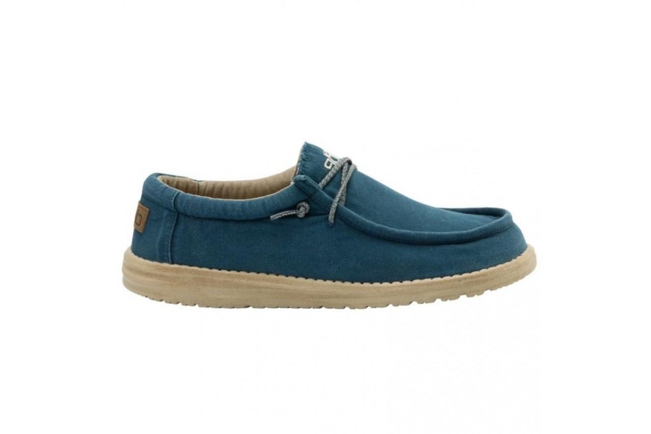 Półbuty heydude wally washed hydro, niebieski, materiał  - półbuty - buty męskie - mężczyzna 3
