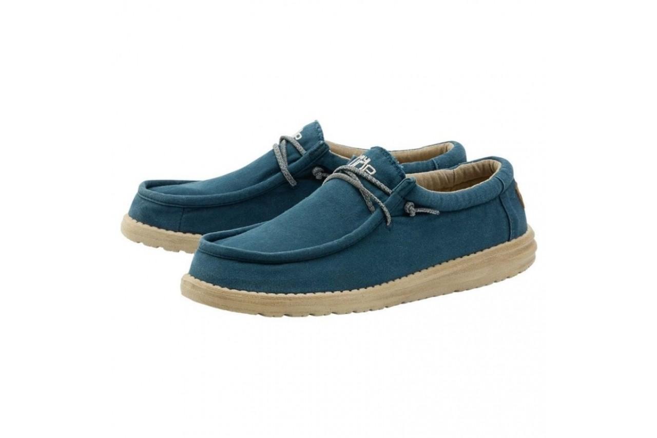 Półbuty heydude wally washed hydro, niebieski, materiał  - półbuty - buty męskie - mężczyzna 4