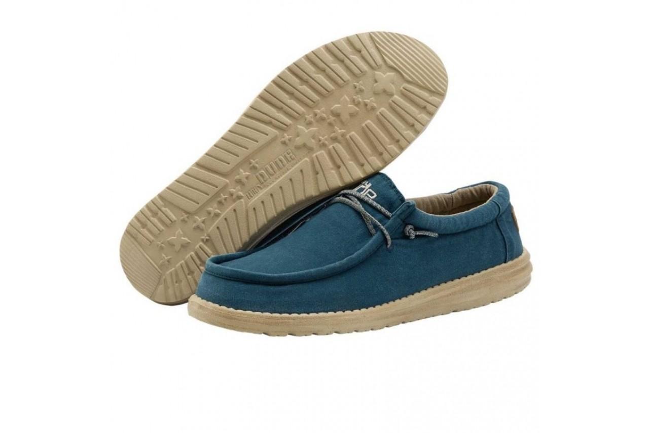 Półbuty heydude wally washed hydro, niebieski, materiał  - półbuty - buty męskie - mężczyzna 5