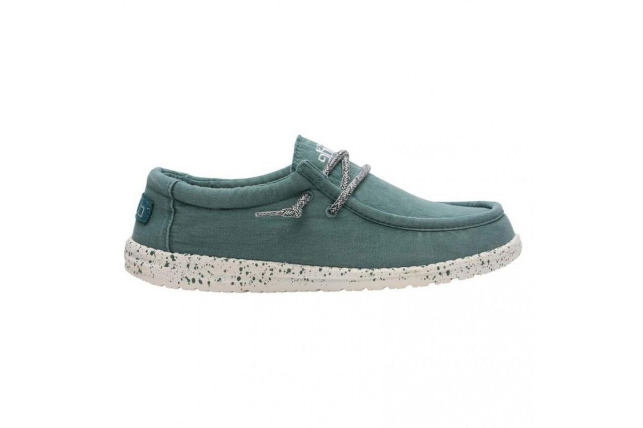 Półbuty heydude wally washed teal, zielony, materiał  - sportowe - półbuty - buty męskie - mężczyzna 5