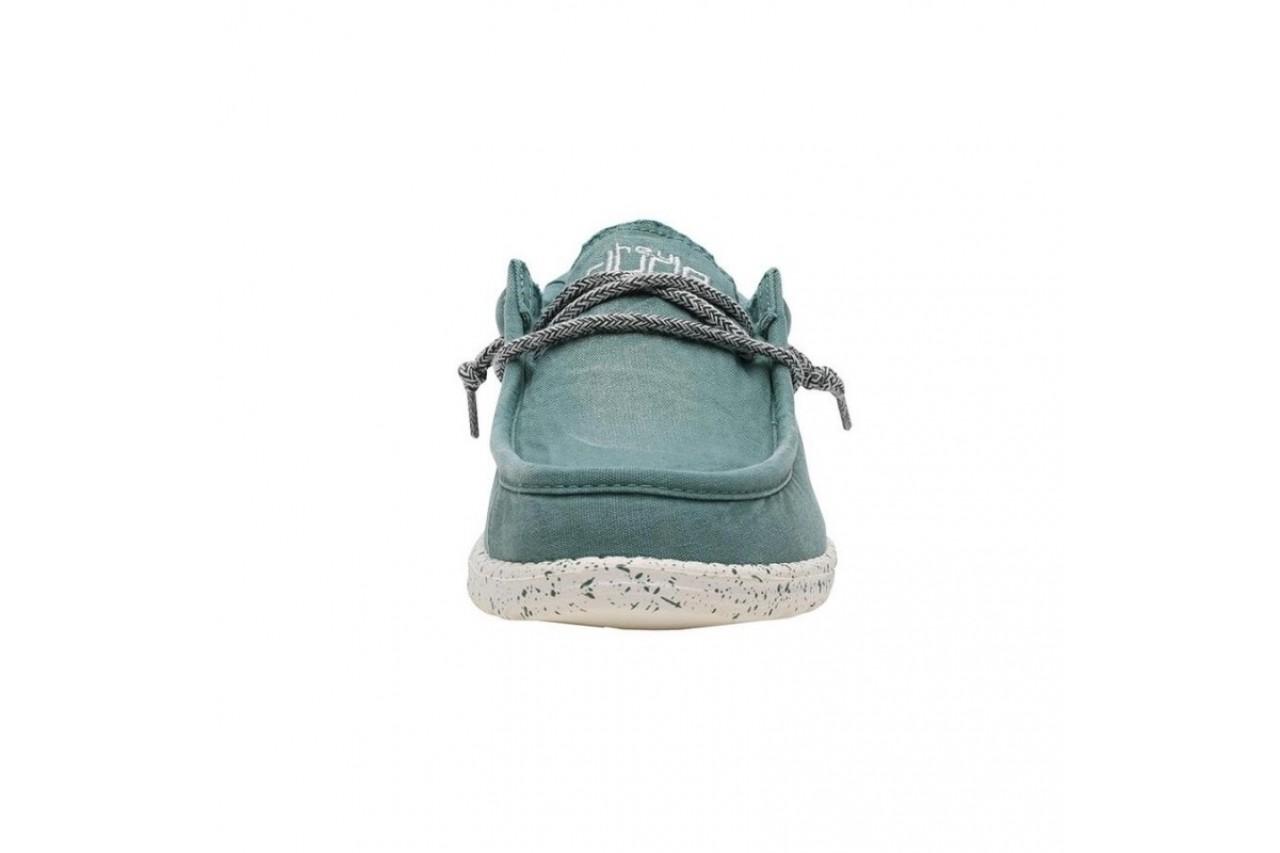 Półbuty heydude wally washed teal, zielony, materiał  - sportowe - półbuty - buty męskie - mężczyzna 7