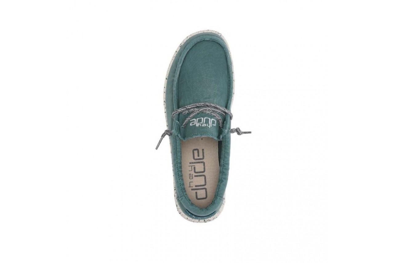 Półbuty heydude wally washed teal, zielony, materiał  - sportowe - półbuty - buty męskie - mężczyzna 9