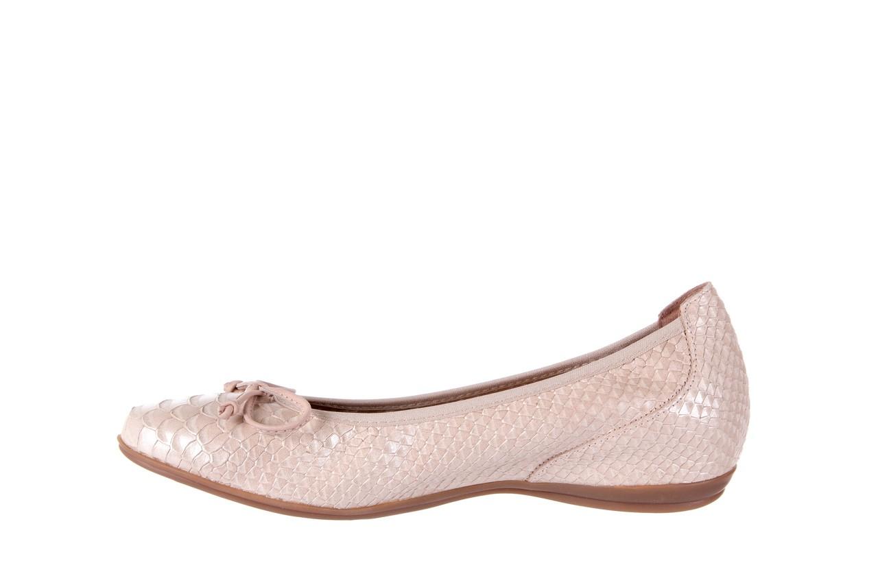Baleriny wonders a-3050 birlame palo, beż, skóra naturalna  - na koturnie/platformie - baleriny - buty damskie - kobieta 8