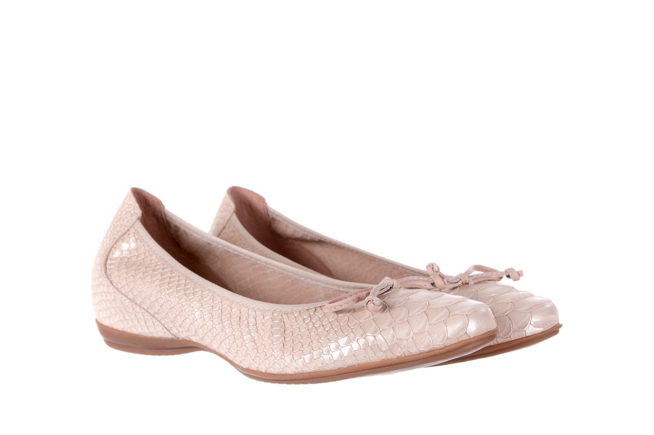 Baleriny wonders a-3050 birlame palo, beż, skóra naturalna  - na koturnie/platformie - baleriny - buty damskie - kobieta 7