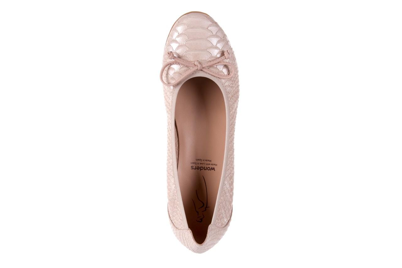 Baleriny wonders a-3050 birlame palo, beż, skóra naturalna  - na koturnie/platformie - baleriny - buty damskie - kobieta 10