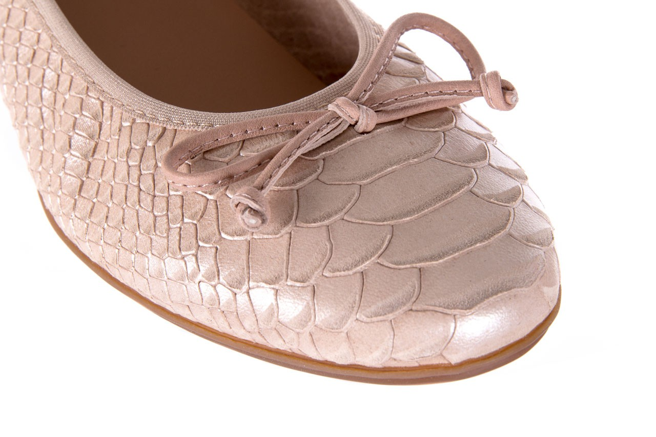 Baleriny wonders a-3050 birlame palo, beż, skóra naturalna  - na koturnie/platformie - baleriny - buty damskie - kobieta 11