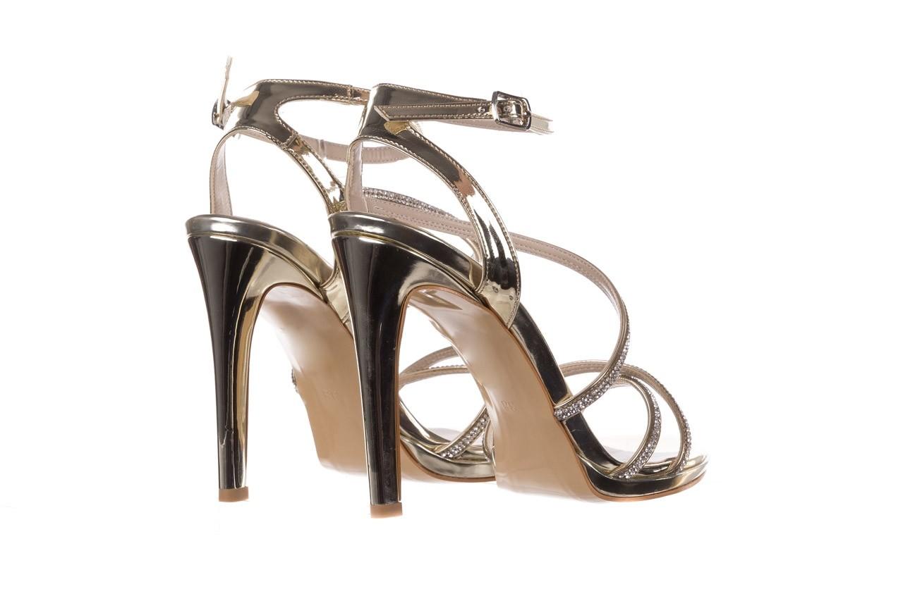 Sandały bayla-187 589-9078 złoty, skóra ekologiczna  - na obcasie - sandały - buty damskie - kobieta 10