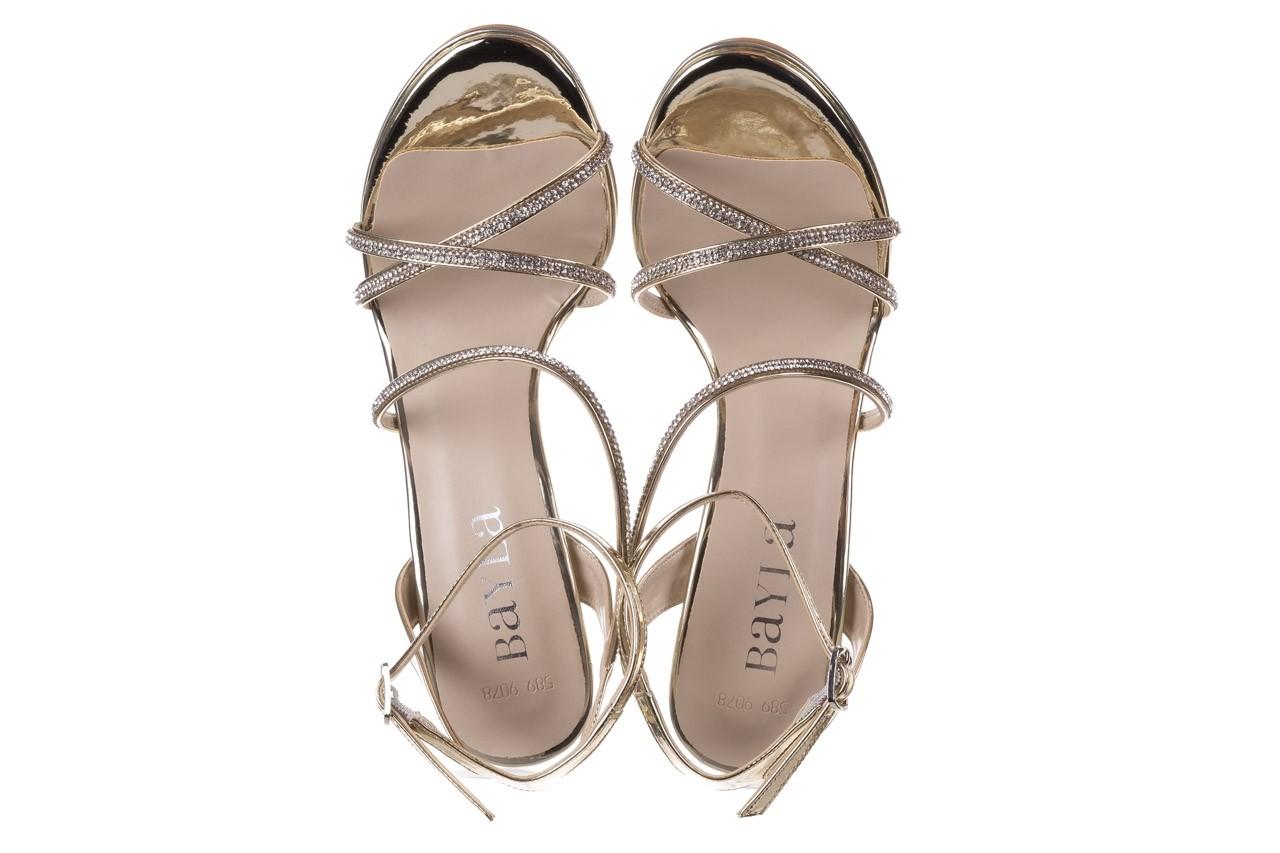 Sandały bayla-187 589-9078 złoty, skóra ekologiczna  - na obcasie - sandały - buty damskie - kobieta 11