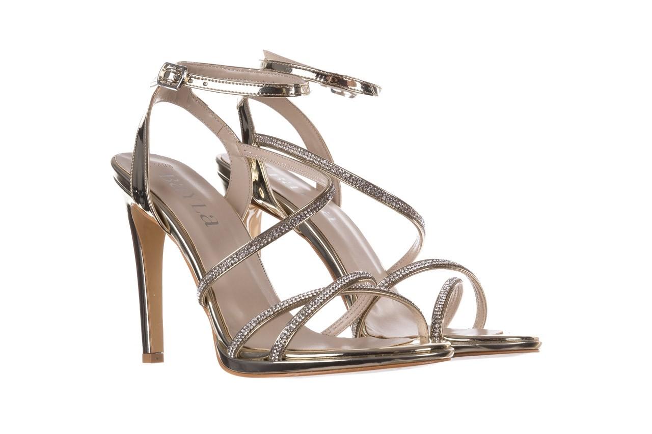 Sandały bayla-187 589-9078 złoty, skóra ekologiczna  - na obcasie - sandały - buty damskie - kobieta 8