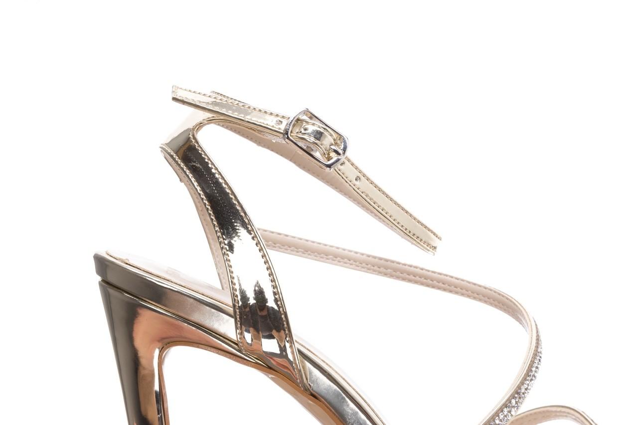 Sandały bayla-187 589-9078 złoty, skóra ekologiczna  - na obcasie - sandały - buty damskie - kobieta 12