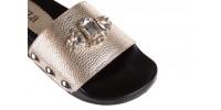 Bayla-112 0550-0993 gold - klapki - buty damskie - kobieta 5
