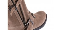 Bayla-164 top 25 beige 164007 - płaskie - botki - buty damskie - kobieta 5