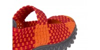 Rock sandal 2 closed orange-bordo - bayla - nasze marki 5