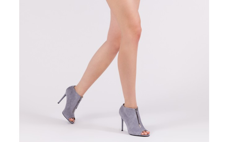 Botki bayla-056 2074-601 niebieski, skóra naturalna  - peep toe - szpilki - buty damskie - kobieta 7
