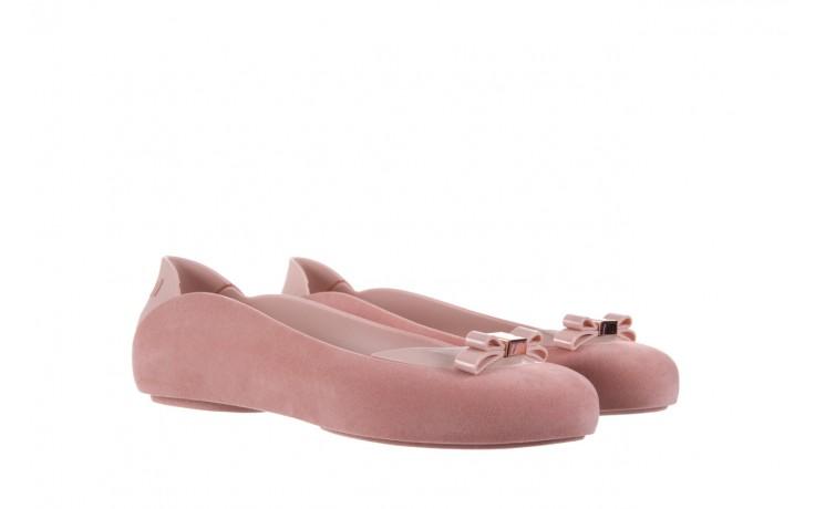 Baleriny melissa pump it flocked ad pink, róż, guma - melissa - nasze marki 1