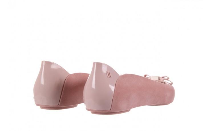 Baleriny melissa pump it flocked ad pink, róż, guma - melissa - nasze marki 3