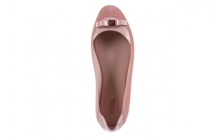 Baleriny melissa pump it flocked ad pink, róż, guma - melissa - nasze marki 4