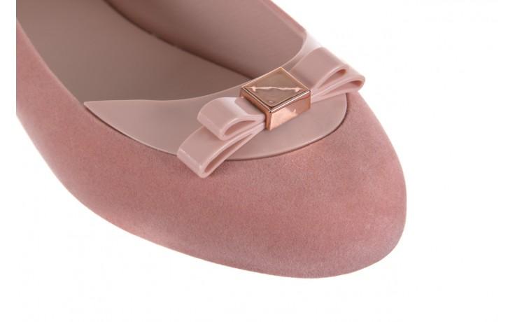 Baleriny melissa pump it flocked ad pink, róż, guma - melissa - nasze marki 5