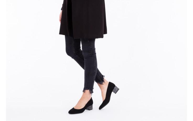 Czółenka bayla-172 m006 czarny, skóra naturalna - na słupku - czółenka - buty damskie - kobieta 2