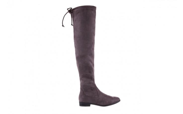 Kozaki bayla-175 16061-0396 grey, szary, materiał - kozaki - buty damskie - kobieta