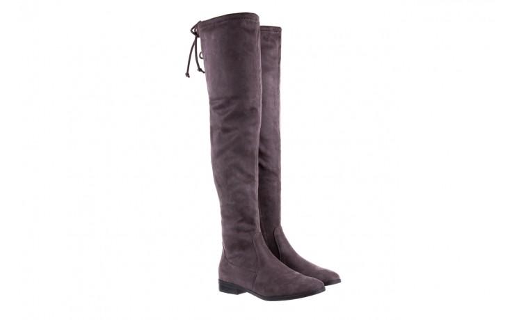 Kozaki bayla-175 16061-0396 grey, szary, materiał - kozaki - buty damskie - kobieta 1