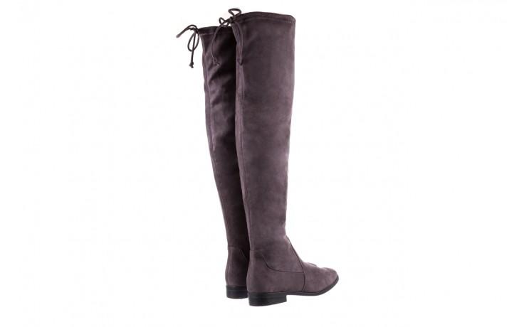 Kozaki bayla-175 16061-0396 grey, szary, materiał - kozaki - buty damskie - kobieta 3