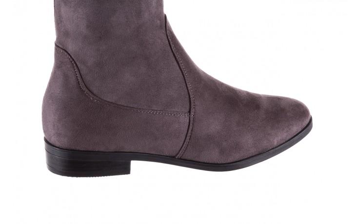 Kozaki bayla-175 16061-0396 grey, szary, materiał - kozaki - buty damskie - kobieta 4