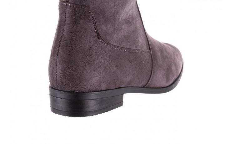 Kozaki bayla-175 16061-0396 grey, szary, materiał - kozaki - buty damskie - kobieta 5