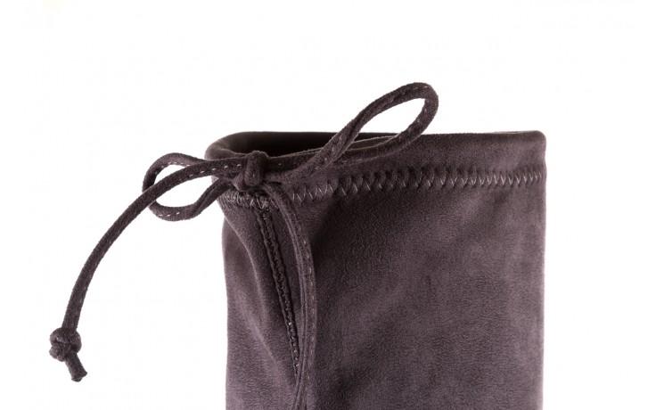 Kozaki bayla-175 16061-0396 grey, szary, materiał - kozaki - buty damskie - kobieta 6