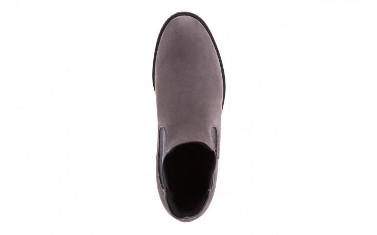 Botki bayla-076 1582w szary, skóra naturalna - sztyblety - botki - buty damskie - kobieta 4