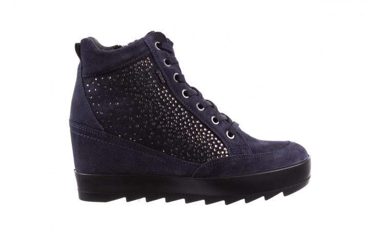 Sneakersy igi&co 8800200 blu, granat, skóra naturalna  - obuwie sportowe - buty damskie - kobieta