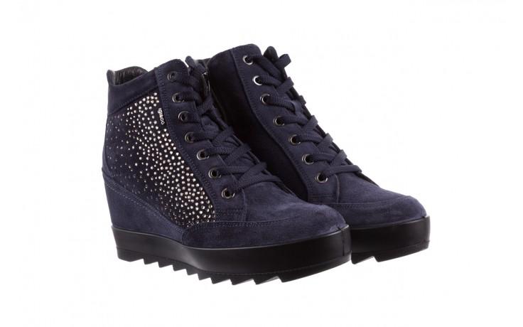 Sneakersy igi&co 8800200 blu, granat, skóra naturalna  - obuwie sportowe - buty damskie - kobieta 1