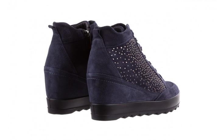 Sneakersy igi&co 8800200 blu, granat, skóra naturalna  - obuwie sportowe - buty damskie - kobieta 3