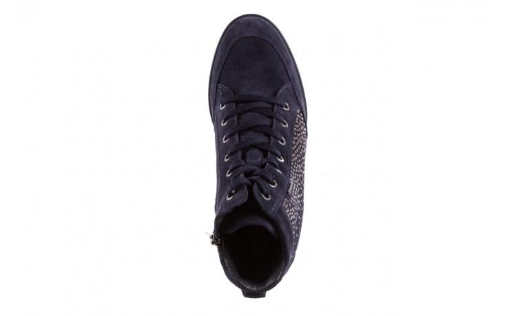Sneakersy igi&co 8800200 blu, granat, skóra naturalna  - obuwie sportowe - buty damskie - kobieta 4