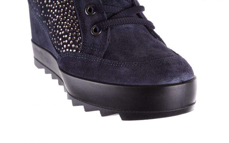 Sneakersy igi&co 8800200 blu, granat, skóra naturalna  - obuwie sportowe - buty damskie - kobieta 5