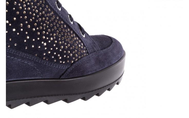 Sneakersy igi&co 8800200 blu, granat, skóra naturalna  - obuwie sportowe - buty damskie - kobieta 6