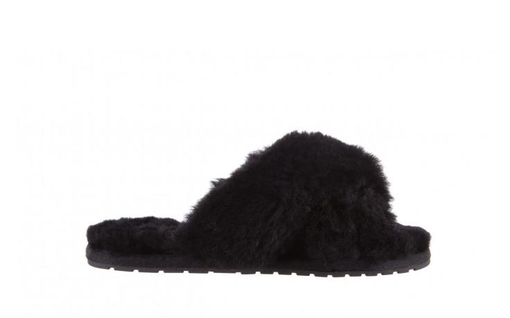 Klapki emu mayberry black 21 119127, czarny, futro naturalne  - klapki - buty damskie - kobieta