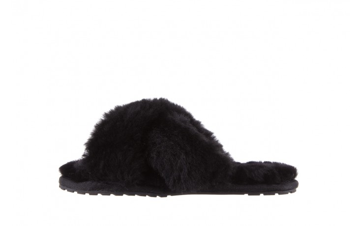 Klapki emu mayberry black, czarny, futro naturalne - kobieta 3