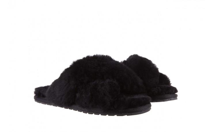 Klapki emu mayberry black, czarny, futro naturalne - kobieta 1