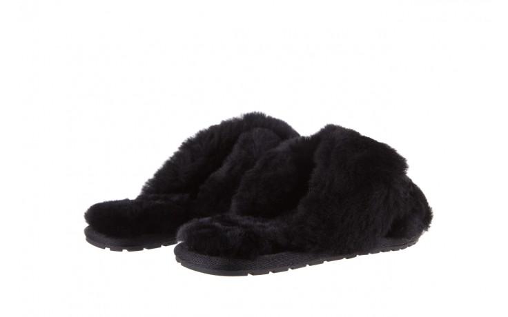 Klapki emu mayberry black, czarny, futro naturalne - kobieta 4
