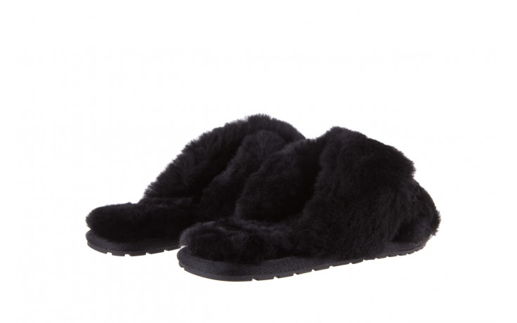Klapki emu mayberry black 21 119127, czarny, futro naturalne  - klapki - buty damskie - kobieta 4