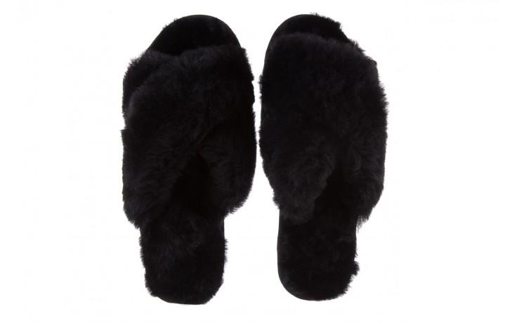 Klapki emu mayberry black, czarny, futro naturalne - kobieta 5