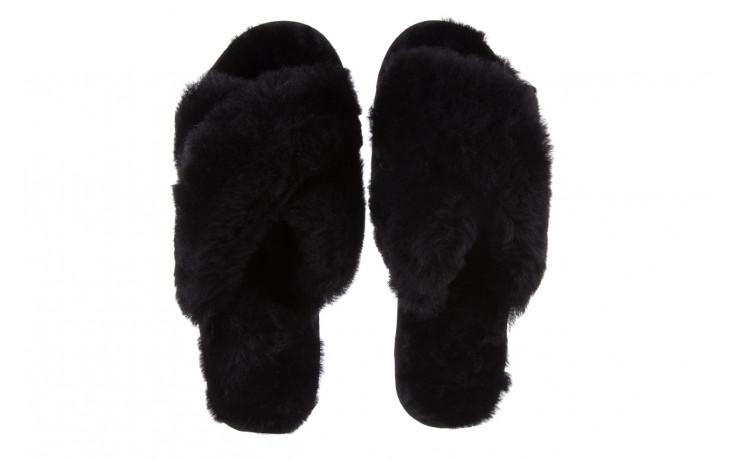 Klapki emu mayberry black 21 119127, czarny, futro naturalne  - klapki - buty damskie - kobieta 5